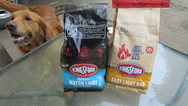 Airbud guarding the Kingsford charcoal