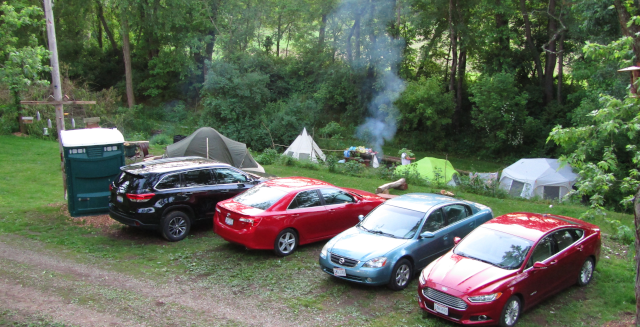 Peace Park campsite parking