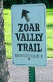 Zoar Valley Trail sign