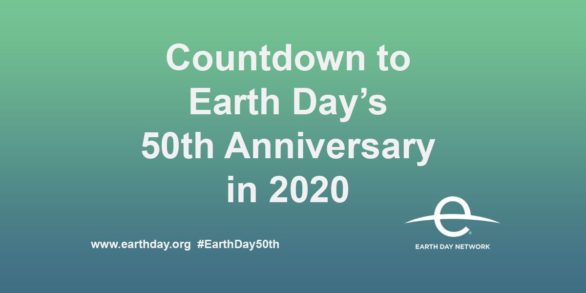 Earthday 2020 50th anniversary countdown