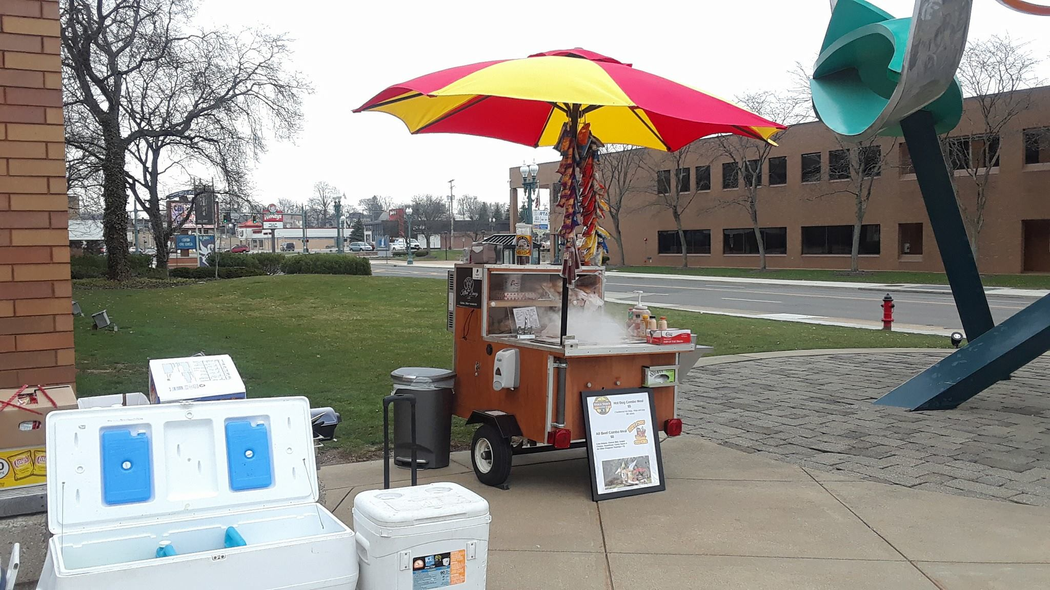 hot dog cart cac