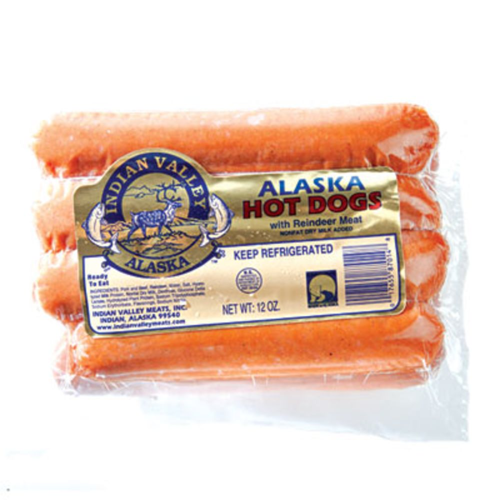 indian valley alaska hot dogs with reindeer